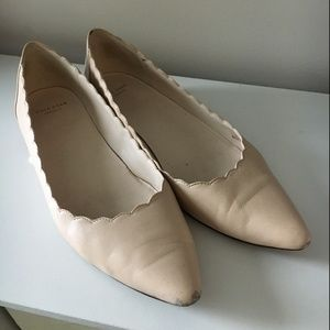 Cole Haan Scalloped Flats